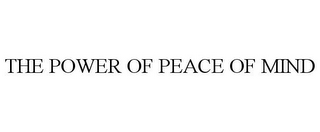 mark for THE POWER OF PEACE OF MIND, trademark #78738247