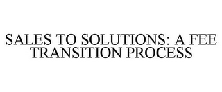 mark for SALES TO SOLUTIONS: A FEE TRANSITION PROCESS, trademark #78739337