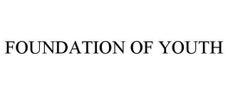 mark for FOUNDATION OF YOUTH, trademark #78741226