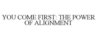 mark for YOU COME FIRST: THE POWER OF ALIGNMENT, trademark #78743989