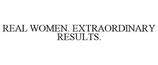 mark for REAL WOMEN. EXTRAORDINARY RESULTS., trademark #78745271