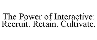 mark for THE POWER OF INTERACTIVE: RECRUIT. RETAIN. CULTIVATE., trademark #78750198