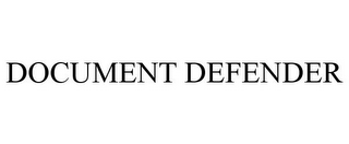 mark for DOCUMENT DEFENDER, trademark #78753234
