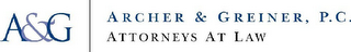 mark for A&G ARCHER & GREINER, P.C. ATTORNEYS ATLAW, trademark #78754333