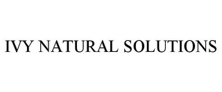 mark for IVY NATURAL SOLUTIONS, trademark #78757274