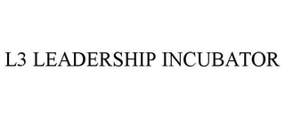 mark for L3 LEADERSHIP INCUBATOR, trademark #78757409