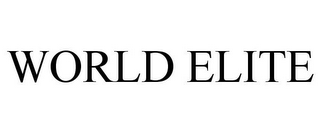 mark for WORLD ELITE, trademark #78757981