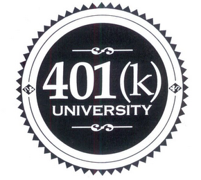 mark for 401(K) UNIVERSITY, trademark #78759086