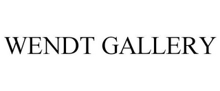 mark for WENDT GALLERY, trademark #78761673