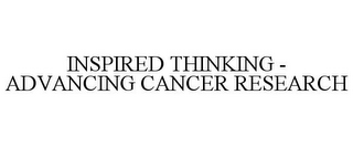 mark for INSPIRED THINKING - ADVANCING CANCER RESEARCH, trademark #78764369