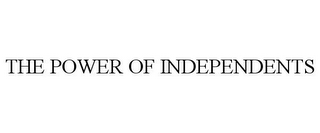 mark for THE POWER OF INDEPENDENTS, trademark #78765784
