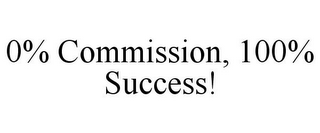 mark for 0% COMMISSION, 100% SUCCESS!, trademark #78767391