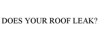 mark for DOES YOUR ROOF LEAK?, trademark #78768327