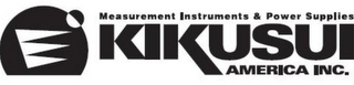mark for MEASUREMENT INSTRUMENTS & POWER SUPPLIES KIKUSUI AMERICA INC., trademark #78769851