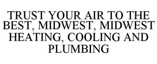 mark for TRUST YOUR AIR TO THE BEST, MIDWEST, MIDWEST HEATING, COOLING AND PLUMBING, trademark #78770139