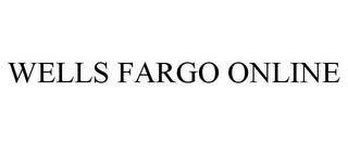 mark for WELLS FARGO ONLINE, trademark #78771826