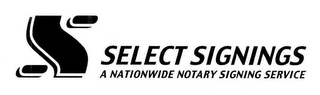 mark for S SELECT SIGNINGS A NATIONWIDE NOTARY SIGNING SERVICE, trademark #78773106