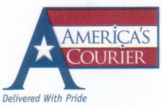 mark for A AMERICA'S COURIER DELIVERED WITH PRIDE, trademark #78775790