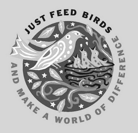 mark for JUST FEED BIRDS AND MAKE A WORLD OF DIFFERENCE, trademark #78776303