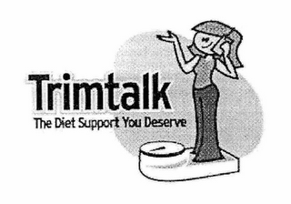 mark for TRIMTALK THE DIET SUPPORT YOU DESERVE, trademark #78779127