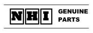 mark for NHI GENUINE PARTS, trademark #78780476