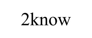 mark for 2KNOW, trademark #78787045