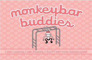 mark for MB MONKEYBAR BUDDIES I SEE LONDON, I SEE FRANCE, I CAN'T SEE YOUR UNDERPANTS!, trademark #78787155