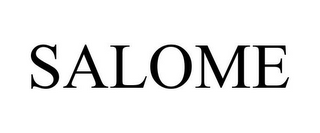 mark for SALOME, trademark #78789053