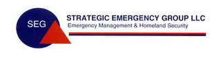 mark for SEG STRATEGIC EMERGENCY GROUP LLC EMERGENCY MANAGEMENT & HOMELAND SECURITY, trademark #78793155