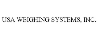 mark for USA WEIGHING SYSTEMS, INC., trademark #78795292