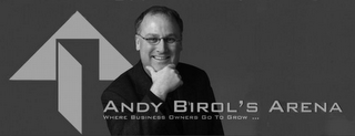 mark for ANDY BIROL'S ARENA WHERE BUSINESS OWNERS GO TO GROW ..., trademark #78796707