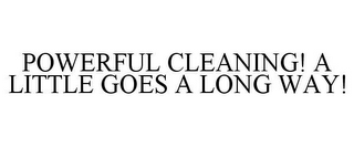 mark for POWERFUL CLEANING! A LITTLE GOES A LONG WAY!, trademark #78796886