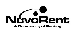mark for NUVORENT A COMMUNITY OF RENTING, trademark #78799914