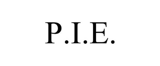 mark for P.I.E., trademark #78800878