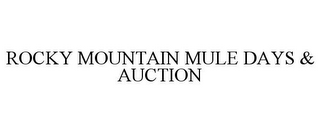 mark for ROCKY MOUNTAIN MULE DAYS & AUCTION, trademark #78802184
