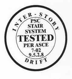 mark for INTER-STORY DRIFT PSC STAIR SYSTEM TESTED PER ASCE 7-02 9.5.2.8, trademark #78806498