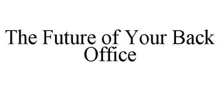 mark for THE FUTURE OF YOUR BACK OFFICE, trademark #78806542