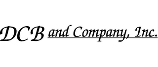 mark for DCB AND COMPANY, INC., trademark #78807792
