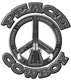 mark for PEACE COWBOY FREEDOM, trademark #78807881