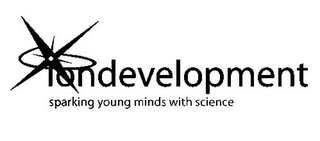 mark for IONDEVELOPMENT SPARKING YOUNG MINDS WITH SCIENCE, trademark #78808828