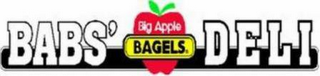 mark for BABS' BIG APPLE BAGELS DELI, trademark #78809090
