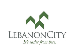 mark for LEBANONCITY IT'S EASIER FROM HERE., trademark #78814276