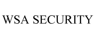 mark for WSA SECURITY, trademark #78814898