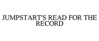 mark for JUMPSTART'S READ FOR THE RECORD, trademark #78816618