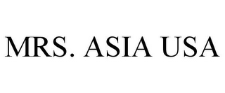 mark for MRS. ASIA USA, trademark #78824919