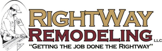 "mark for RIGHTWAY REMODELING, LLC. ""GETTING THE JOB DONE THE RIGHTWAY"", trademark #78826496"