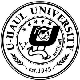 mark for U U-HAUL UNIVERSITY EST. 1945 VVV EXKH=R, trademark #78826581