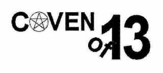 mark for COVEN OF 13, trademark #78828133