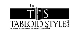 mark for TS TABLOID STYLE.COM FROM THE RED CARPET TO YOUR CLOSET, trademark #78829870