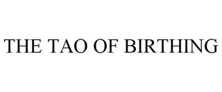 mark for THE TAO OF BIRTHING, trademark #78834014
